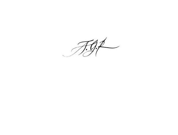 Calligraphie tatouage initiales AGR, calligraphie tatouage lettres entrelacées, calligraphie tatouage lettre, calligraphie tatouage