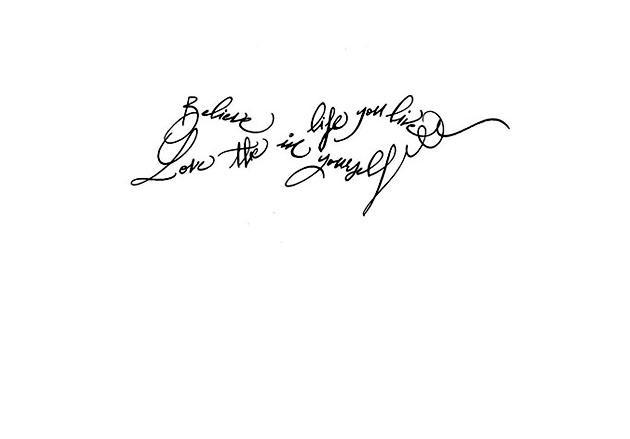Calligraphe Mode Paris Calligraphie Tatouage Phrase Signe Infini