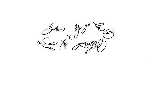 Calligraphe mode paris calligraphie tatouage phrase signe infini - Signe infini tatouage ...