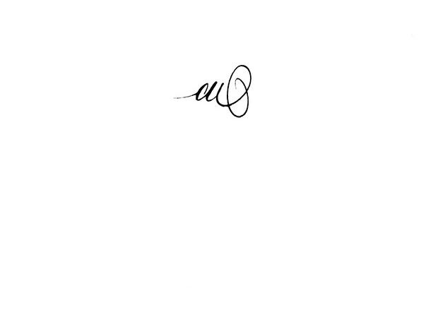 Favori CALLIGRAPHE PARIS, CALLIGRAPHIE PARIS : tatouage lettre A ZJ64