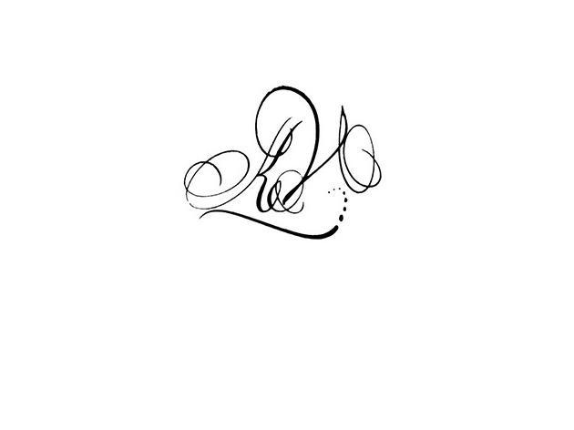 Calligraphe paris calligraphie paris tatouage lettres entrelaces kv - Tatouage lettre l ...