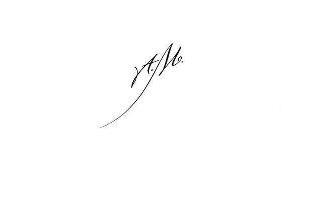 Calligraphie Pour Tatouage Paris Tatouage Initiales Am