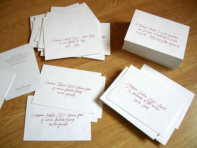 Extrêmement CALLIGRAPHE ENVELOPPES PARIS : calligraphie enveloppe mariage  LH67