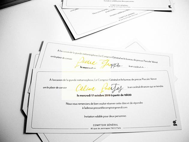 invitation de luxe, calligraphie paris